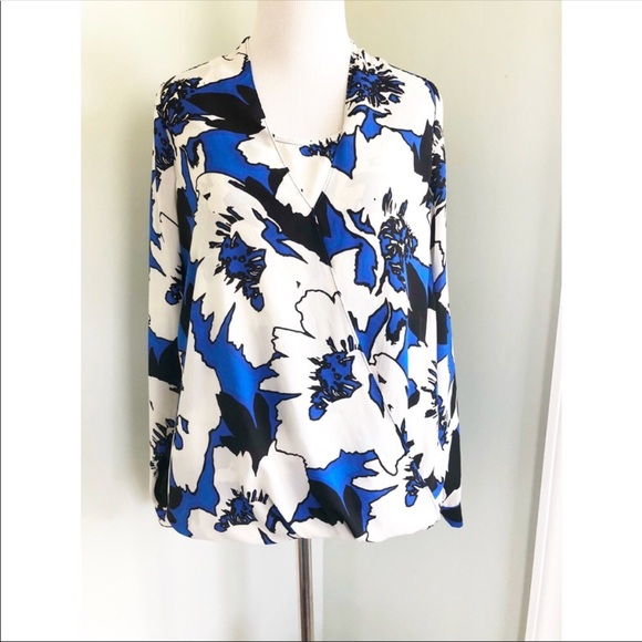 The Limited Tops - The Limited Surplice Floral Blouse Size S